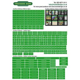 Southern Railway (Green and White) Full Station Set - N Gauge