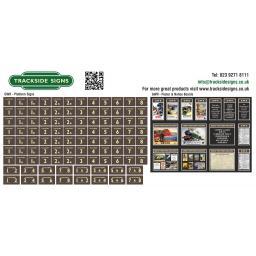 GWR Platform Signs & Poster Boards - Brown & Cream - TSVS0043-003.jpg