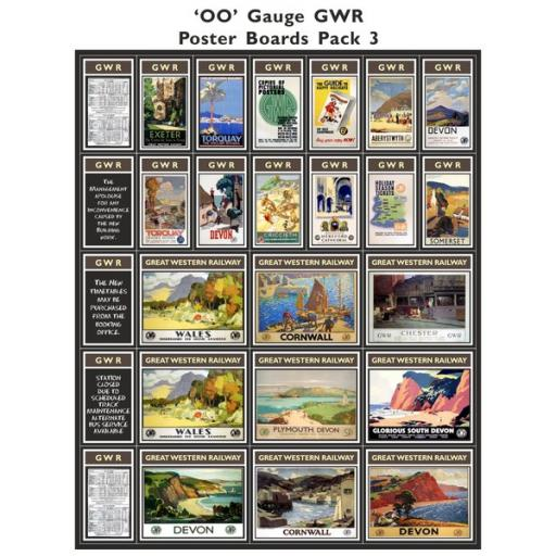 Die Cut GWR Poster Boards Pack 3 - OO Gauge