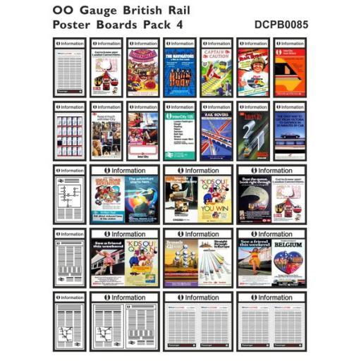Die Cut British Rail Poster Boards OO Gauge - Pack 4