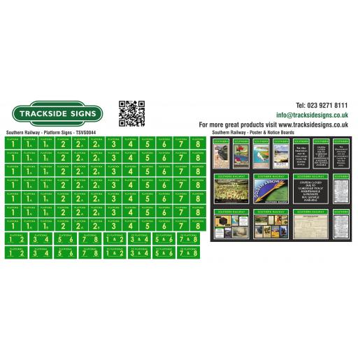 Southern Railway Station Signs - Platform Signs only - Green & Cream - TSVS0044.jpg
