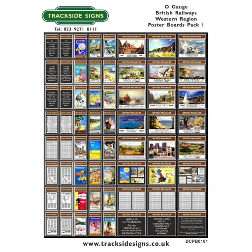 Die Cut BR Western Region Poster Boards - O Gauge