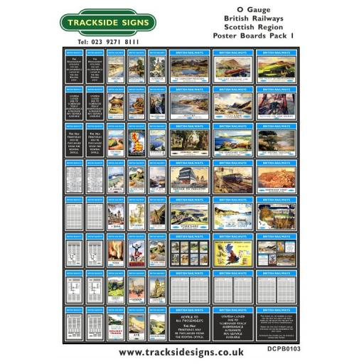 Die Cut BR Scottish Region Poster Boards - O Gauge