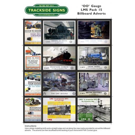 LMS Billboard Sheets Pack 15 - 'OO' Gauge