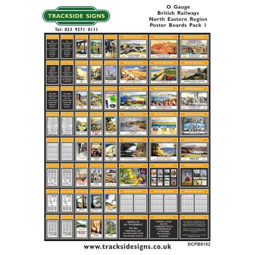 Die Cut BR North Eastern Region Poster Boards - O Gauge