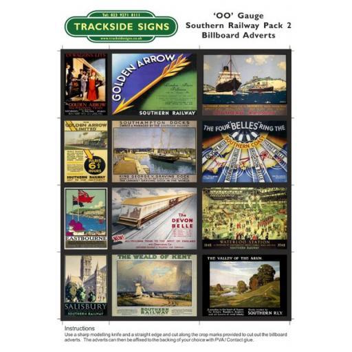 Southern Railway Billboard Sheets Pack 2 - OO Gauge