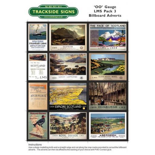 LMS Billboard Sheets Pack 3 - 'OO' Gauge