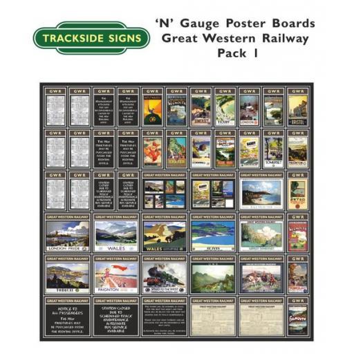 Die Cut GWR Poster Boards (Brown & Cream) Pack 1 - N Gauge