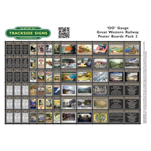 GWR - Poster Board Sheets Pack 2 - OO Gauge