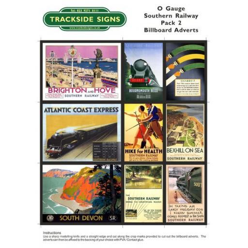 SR Billboard Sheet - Pack 2 - O Gauge