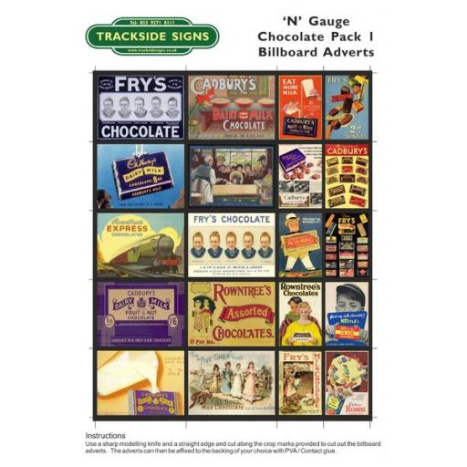 Chocolate - Billboard Sheets - N Gauge