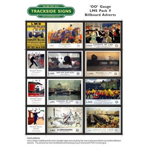 LMS Billboard Sheets Pack 9 - 'OO' Gauge