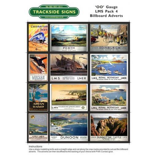 LMS Billboard Sheets Pack 4 - 'OO' Gauge