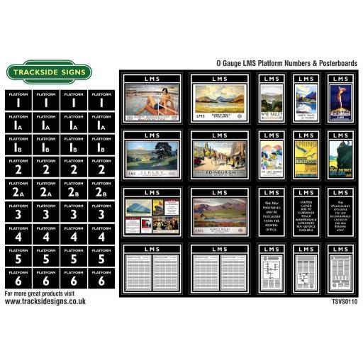 LMS - Platform Numbers and Posterboards - Black - O Gauge