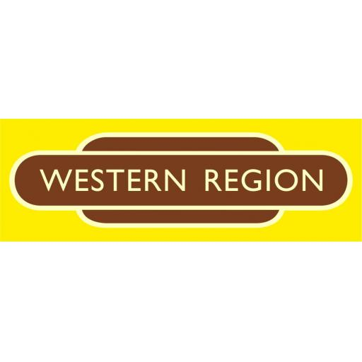 British Railways Western Region Di-Bond Totem
