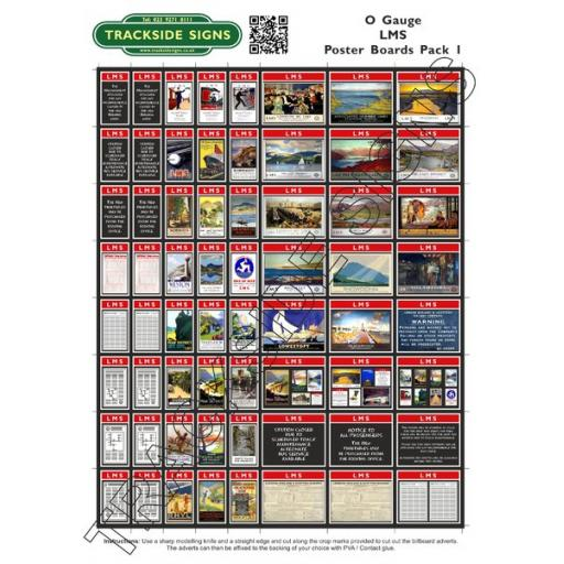 LMS Poster Board Sheets Pack 1- 'O' Gauge