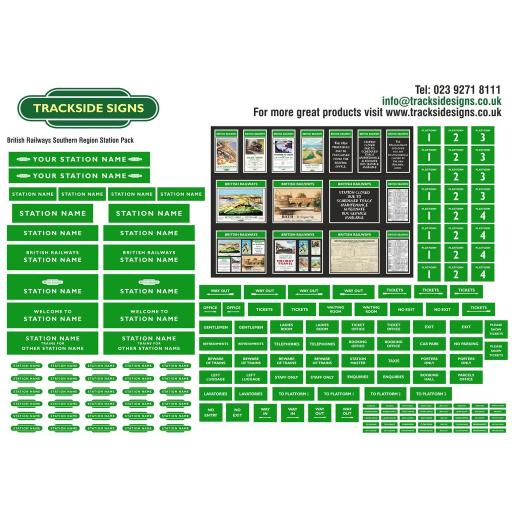 British Railways Southern Region Small Station Sign Packs - OO Gauge
