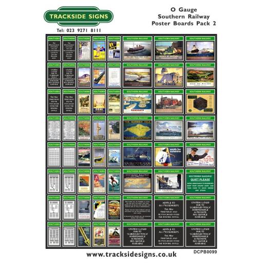 Die Cut Southern Railway Poster Boards Pack 2 (Green & White) - O Gauge