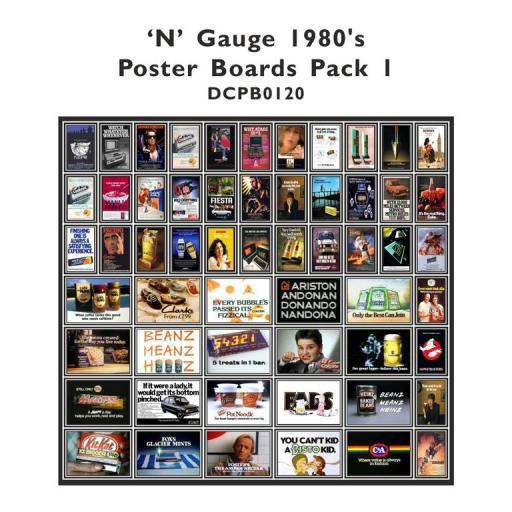 Die Cut 1980's Advert Poster Boards - N Gauge