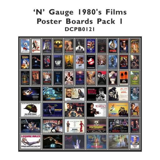 Die Cut 1980's Films Poster Boards - N Gauge