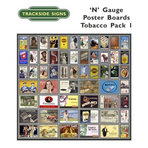 Die Cut Tobacco Poster Boards - N Gauge
