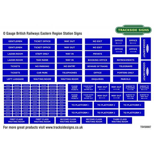 British Railways Eastern Region - General Station Signs - O Gauge