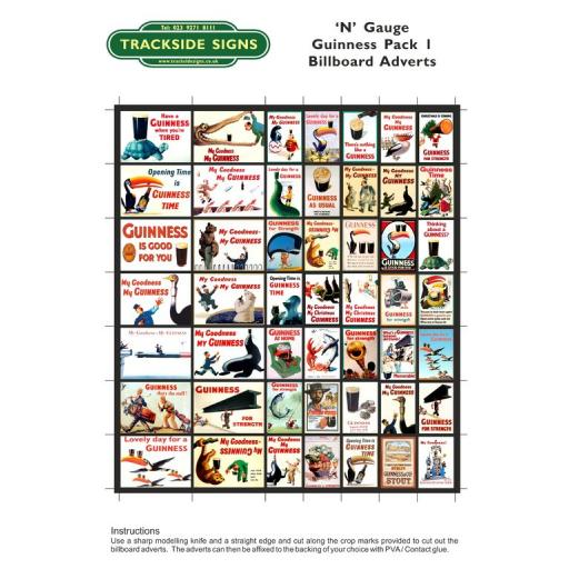 Guinness Adverts - Billboard Sheet Pack 1 - N Gauge