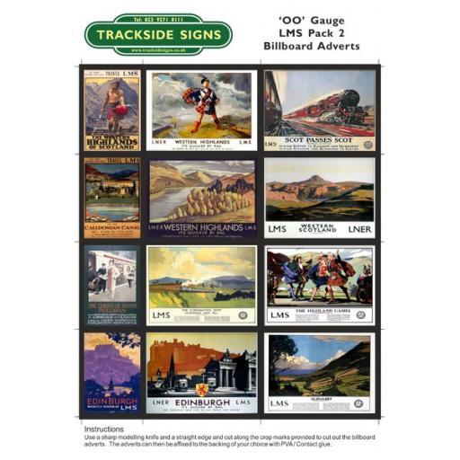 LMS Billboard Sheets Pack 2 - 'OO' Gauge