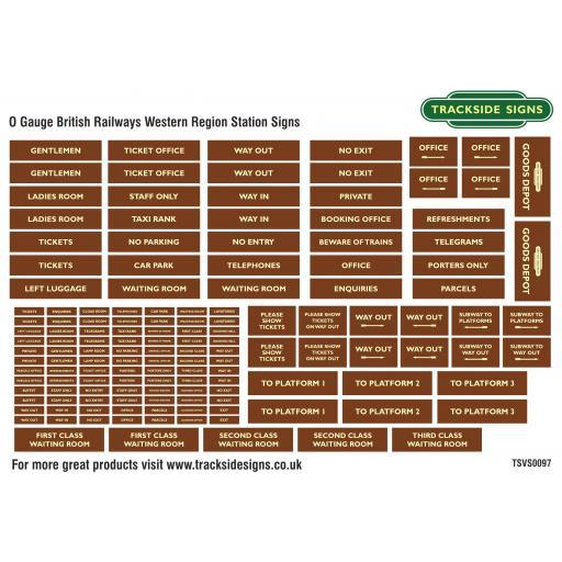 British Railways Western Region - General Station Signs - O Gauge