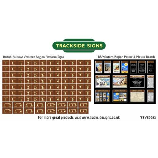 British Railways Western Region Platform Numbers and Posterboards - N Gauge