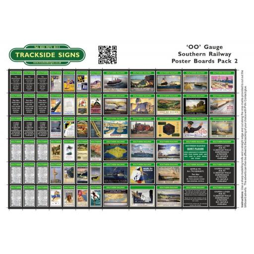 Southern Railway - Poster Board Sheets Pack 2 - OO Gauge