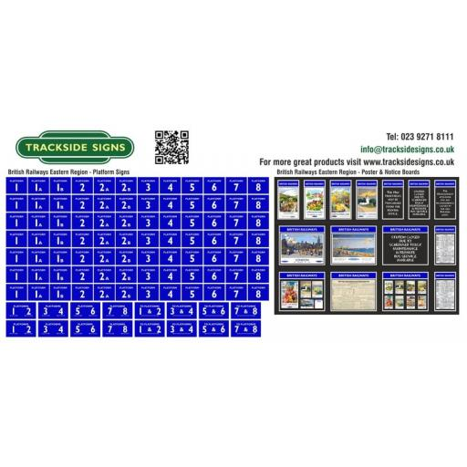 British Railways Eastern Region Platform Numbers and Posterboards - OO Gauge