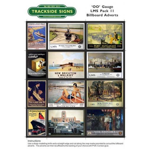 LMS Billboard Sheets Pack 11 - 'OO' Gauge