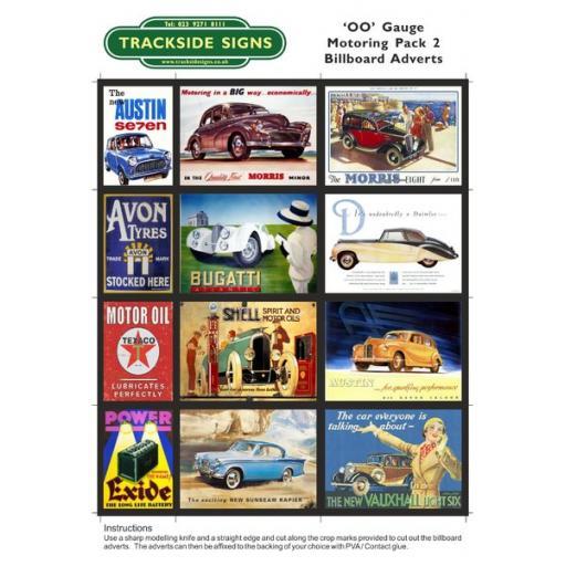 Motoring Billboard Sheets Pack 2 - 'OO' Gauge