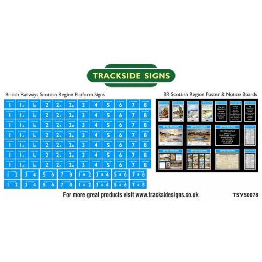 British Railways Scottish Region Platform Numbers and Posterboards - N Gauge