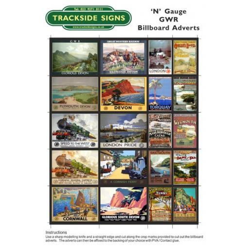 GWR Billboard Sheets - N Gauge
