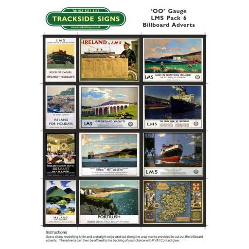 LMS Billboard Sheets Pack 6 - 'OO' Gauge