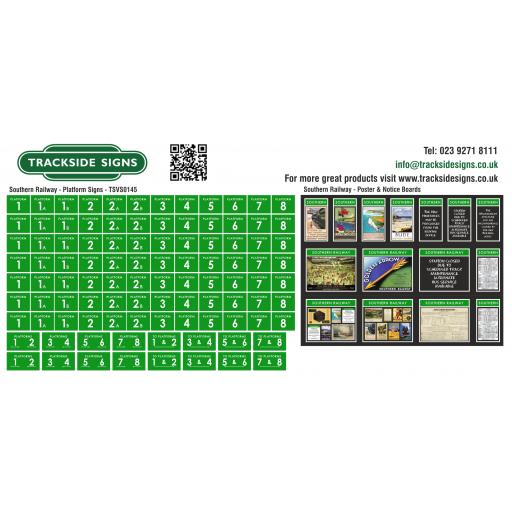 Southern Railway Station Signs & Poster Boards - Green & White - TSVS0145.jpg