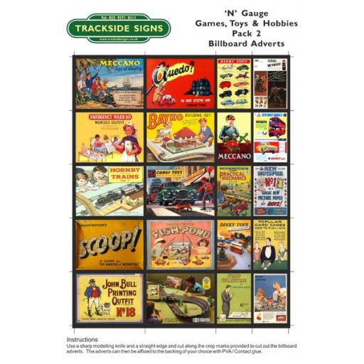 Toys & Games - Billboard Sheets - Pack 2 - 'N' Gauge
