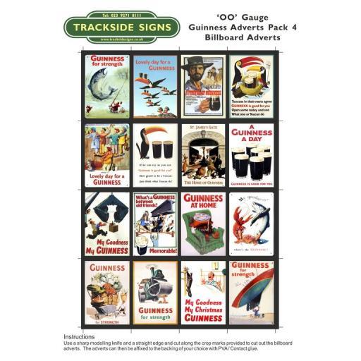 Guinness Films Billboard Sheets Pack 4 - 'OO' Gauge