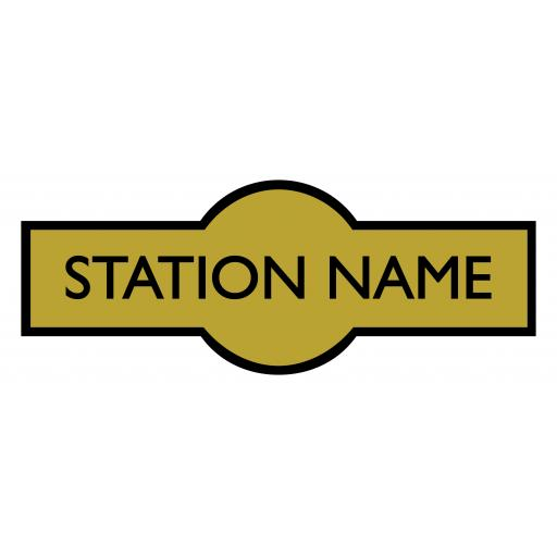 LMS Hawkseye Sign - 36 inch - Custom printed with your choice of Station Name
