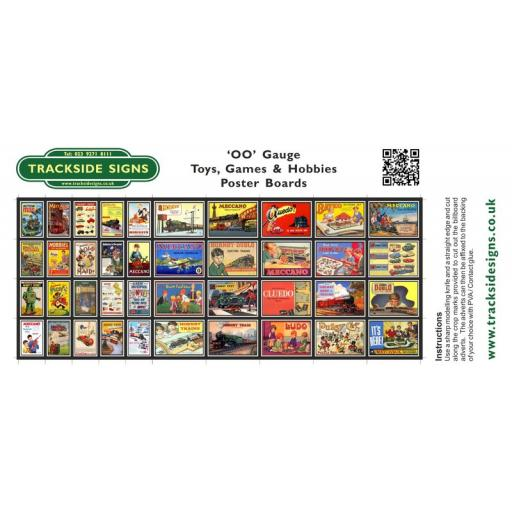 Toys, Games & Hobbies Station Poster Board Sheets - 'OO' Gauge