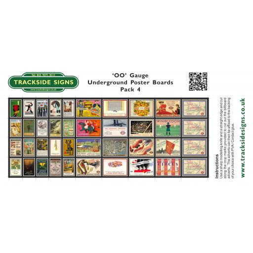Underground - Poster Board Sheets Pack 4 - OO Gauge