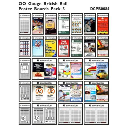 Die Cut British Rail Poster Boards OO Gauge - Pack 3