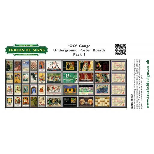 Underground - Poster Board Sheets Pack 1 - OO Gauge