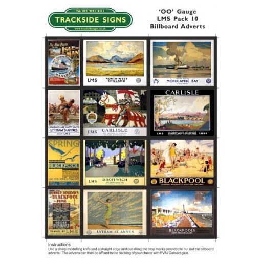 LMS Billboard Sheets Pack 10 - 'OO' Gauge