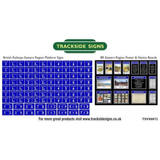 British Railways Eastern Region Platform Numbers and Posterboards - N Gauge