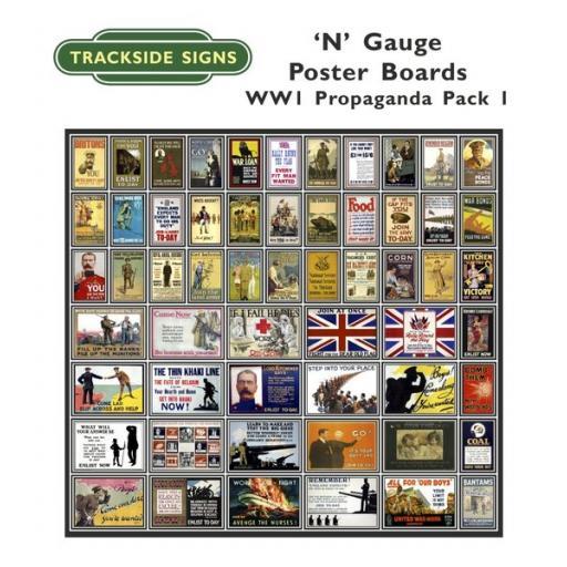 Die Cut World War 1 Poster Boards - N Gauge