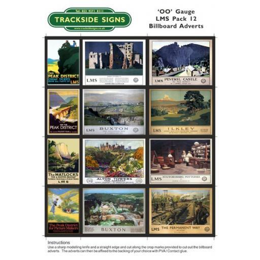 LMS Billboard Sheets Pack 12 - 'OO' Gauge