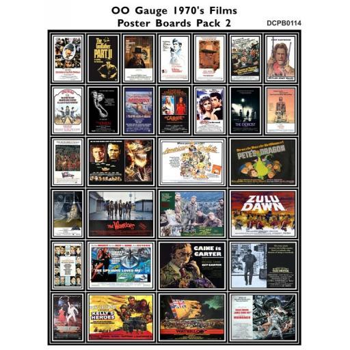 Die Cut 1970's Films Poster Boards Pack 2 - OO Gauge